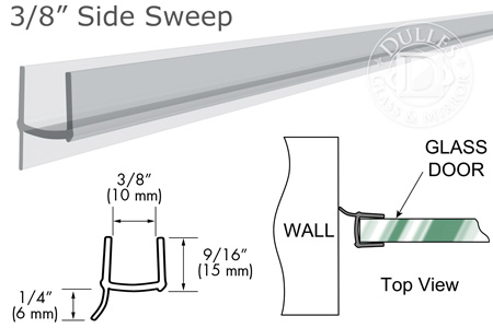 "95"" Clear PVC Seal and Wipe for 3/8"" Glass"