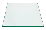 24 Inch Square Glass Table Top, 1/4 Inch Thick, Flat Polished Edge, Eased Corners, Tempered