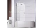 "Bathtub Screen 32"" x 60"", 3/8"" Thick, Chrome with Towel Bar Combo, Rena Series"
