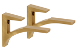 Brushed Brass Aluminum Shelf Brackets