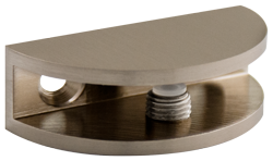 Brushed Nickel Rounded Glass Shelf Bracket