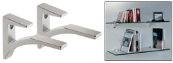 Chrome Aluminum Shelf Brackets