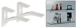 White Aluminum Shelf Brackets