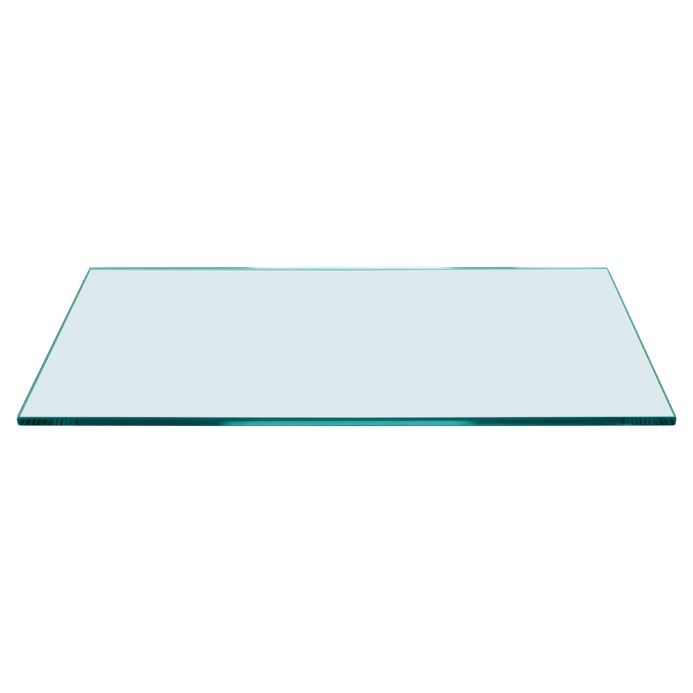 Rectangle Floating Glass Shelf 12 x 24, 1/4 Inch Thick