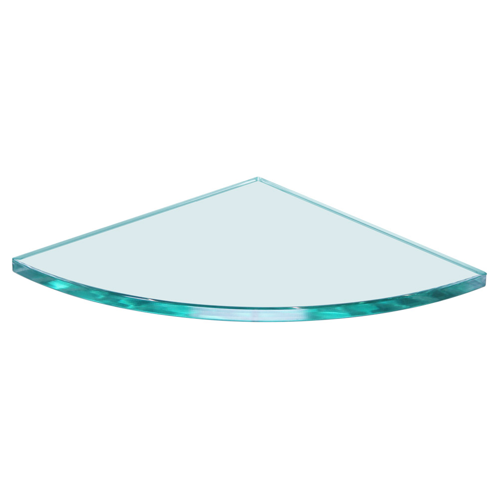 Quarter Circle Glass Shelf 8 x 8