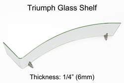 Triumph Glass Shelf  Frosted Glass With Chrome Brackets