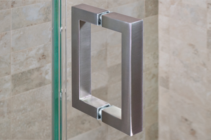 Brushed Nickle Square Handles 6 x 6
