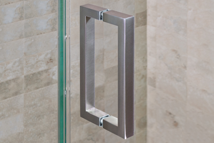 Brushed Nickle Square Handles 8 x 8
