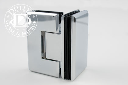 Hera Glass-to-Glass 90 degree Hinge & Shower Door Hinges | Dulles Glass and Mirror