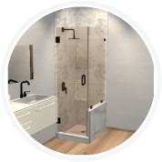 Canto Corner Shower Door
