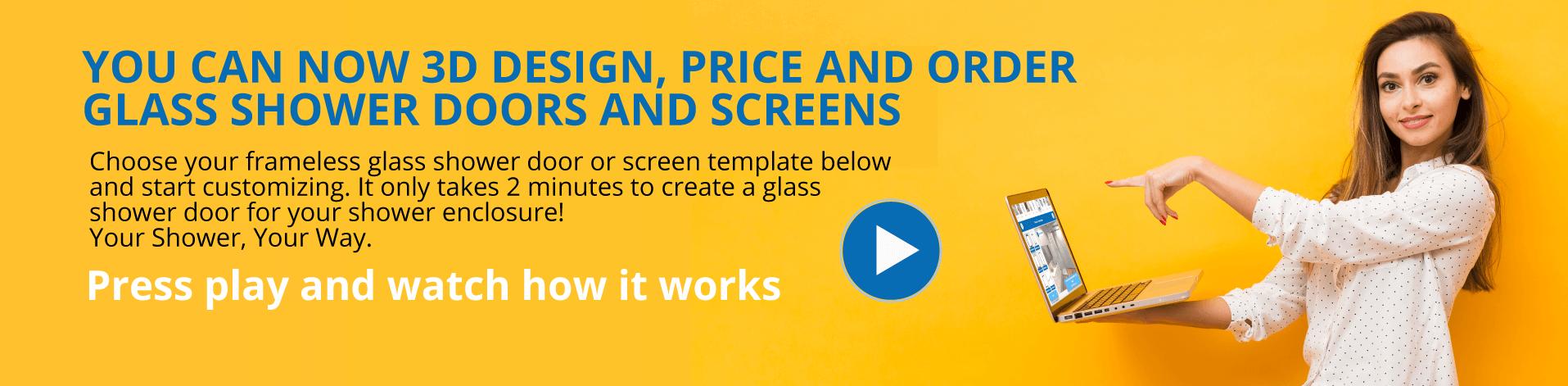 design glass shower doors online