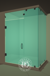 Frameless Corner Shower Door