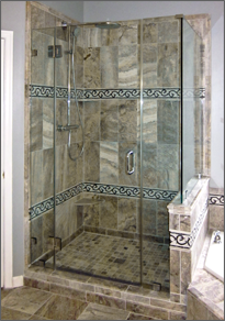 Corner Shower Door #65