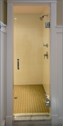 single shower door 1 - Frameless Glass Shower Door