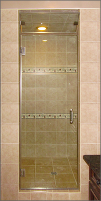 Single Frameless Shower Doors Dulles Glass And Mirror