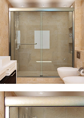 Linear™ Sliding Glass Doors for Showers and Bathtubs