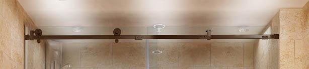 Quadro Shower Door Construction