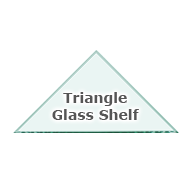Triangle Glass Shelves